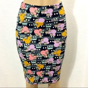 Cassie Mikey Mouse pencil skirt